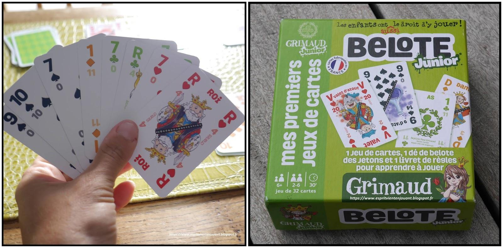 L'esprit Vient En Jouant: [Jeu] La Belote : Jeux De Cartes avec Carte De France Pour Enfant