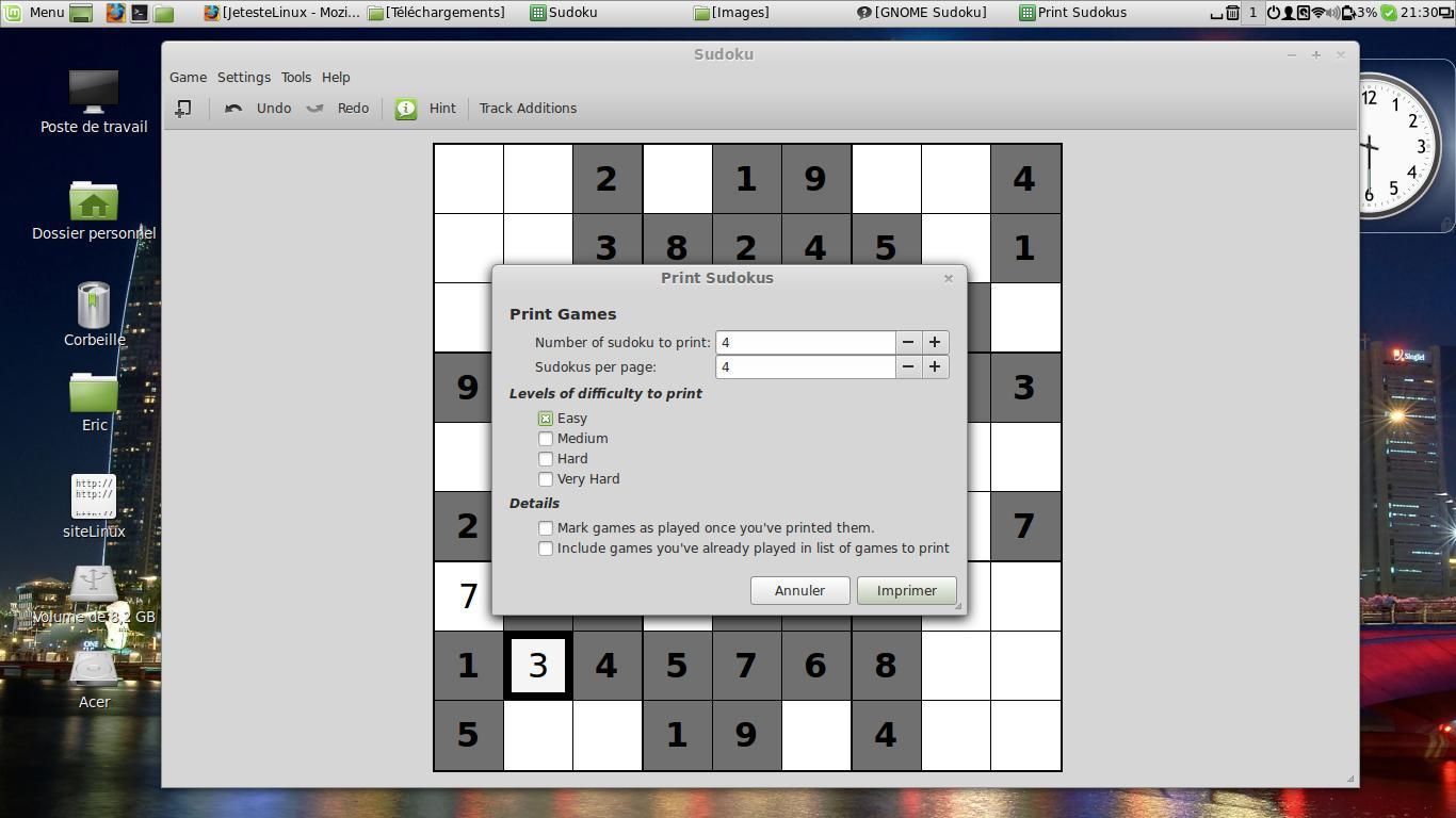 L'été Est Là, Alors Un Peu De Détente Sous Linux encequiconcerne Sudoku A Imprimer