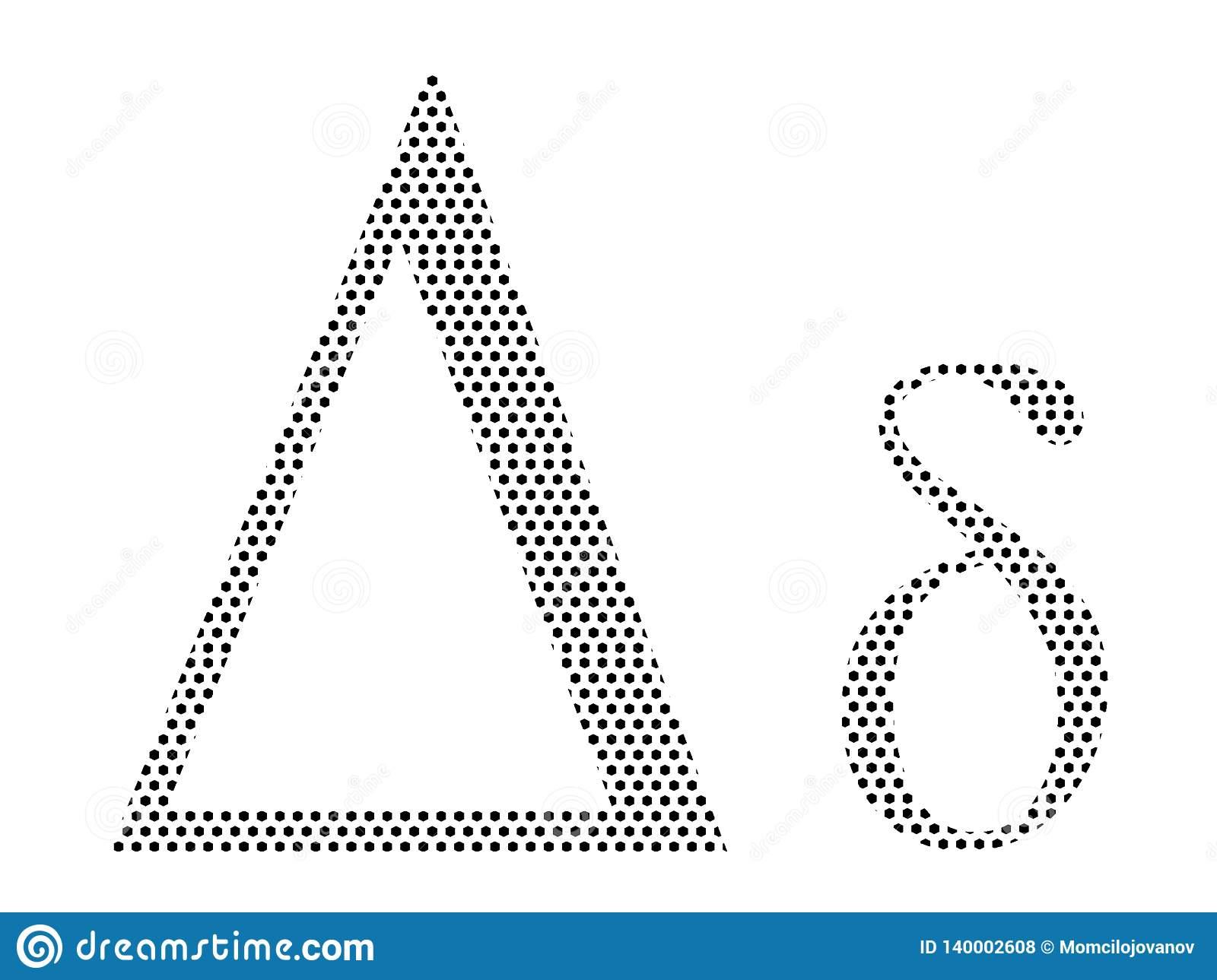 Lettre D'alphabet Grec De Modèle Pointillé De Delta à Modele De Lettre Alphabet