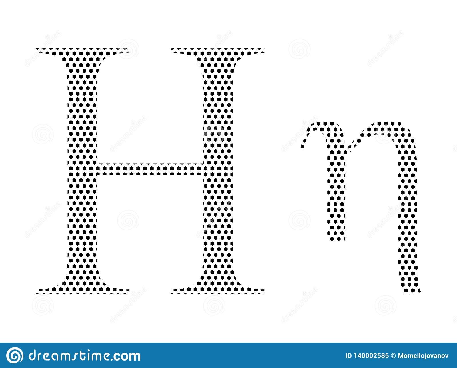 Lettre D'alphabet Grec De Modèle Pointillé D'eta serapportantà Modele Lettre Alphabet