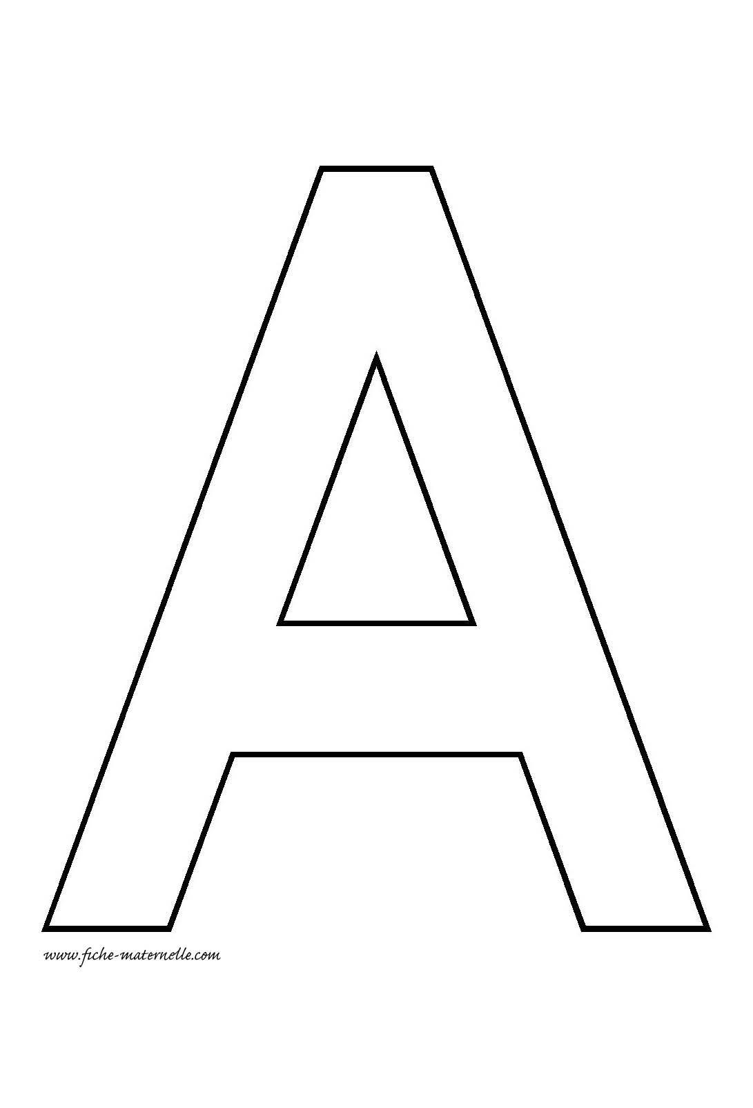 Lettre De L'alphabet À Décorer | Lettre A, Lettre Alphabet À intérieur Modele Lettre Alphabet