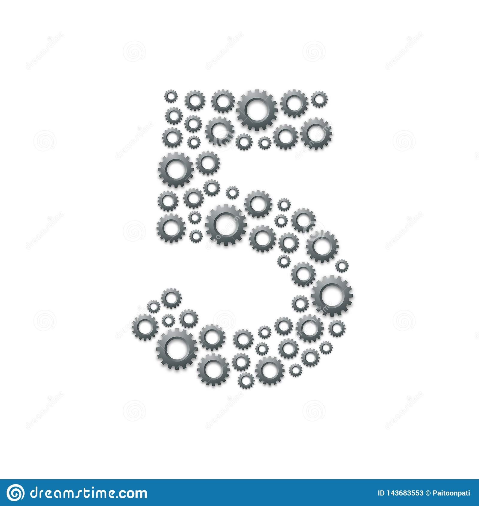 Lettre Numéro Cinq Ou 5 D'ensemble D'alphabet, Machinant Le encequiconcerne Modele De Lettre Alphabet