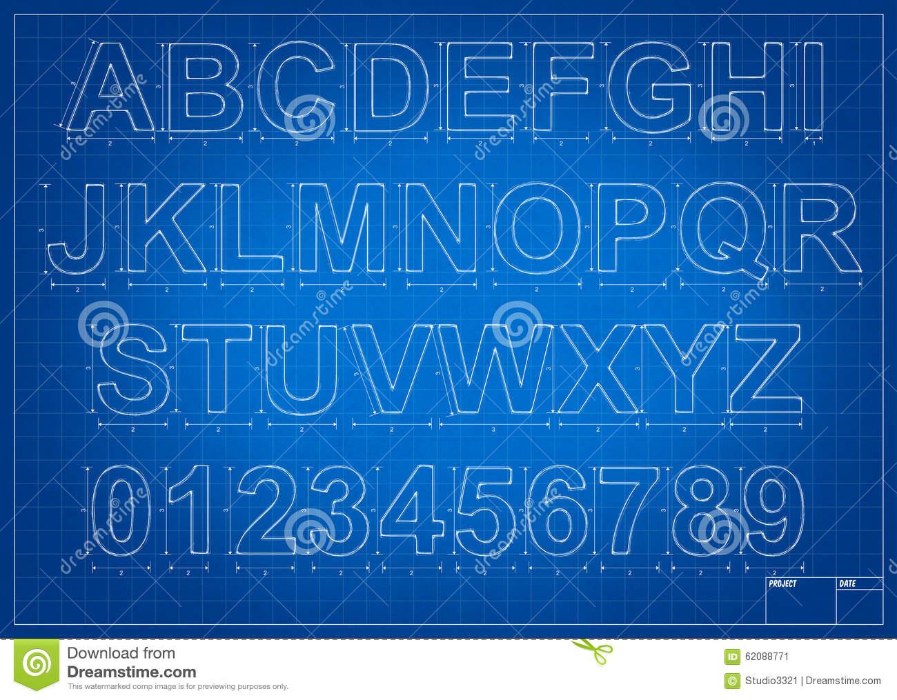 Lettres D'alphabet De Modèle D'architecte Image Stock pour Modèle D Alphabet
