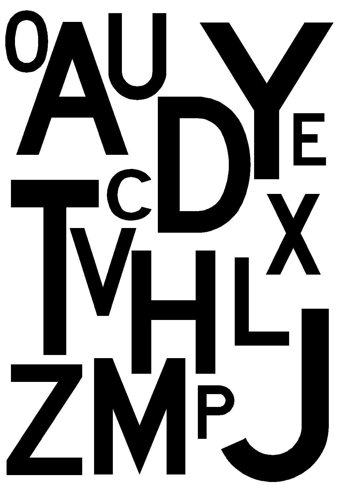 Lettres De L'alphabet À Découper Pour Composer Un Personnage intérieur Lettre De L Alphabet A Imprimer Et Decouper