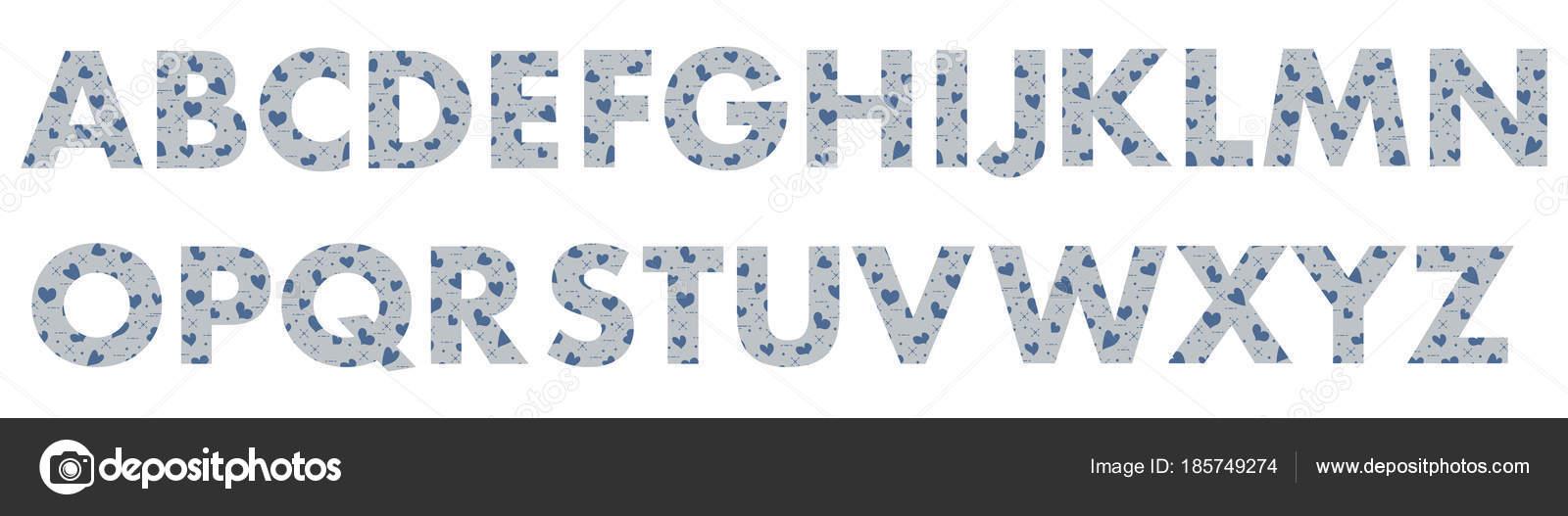 Lettres Majuscules De L'alphabet Anglais. — Image concernant Lettres Majuscules À Imprimer