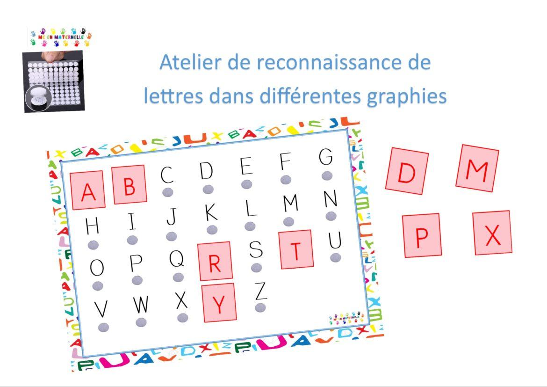 Lettres – Mc En Maternelle destiné Alphabet En Pointillé A Imprimer