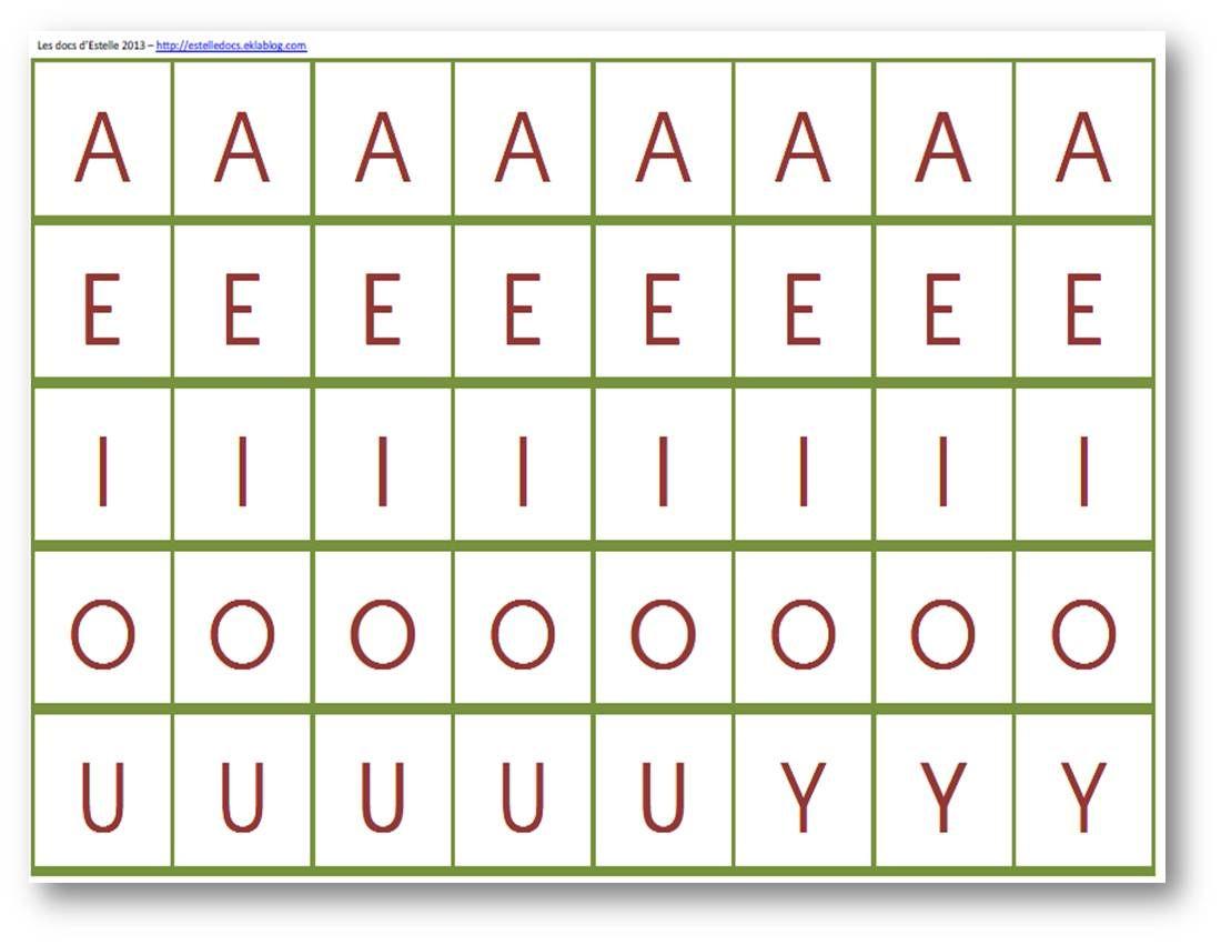Lettres Mobiles À Plastifier Et À Découper | Lettre A à Lettre De L Alphabet A Imprimer Et Decouper