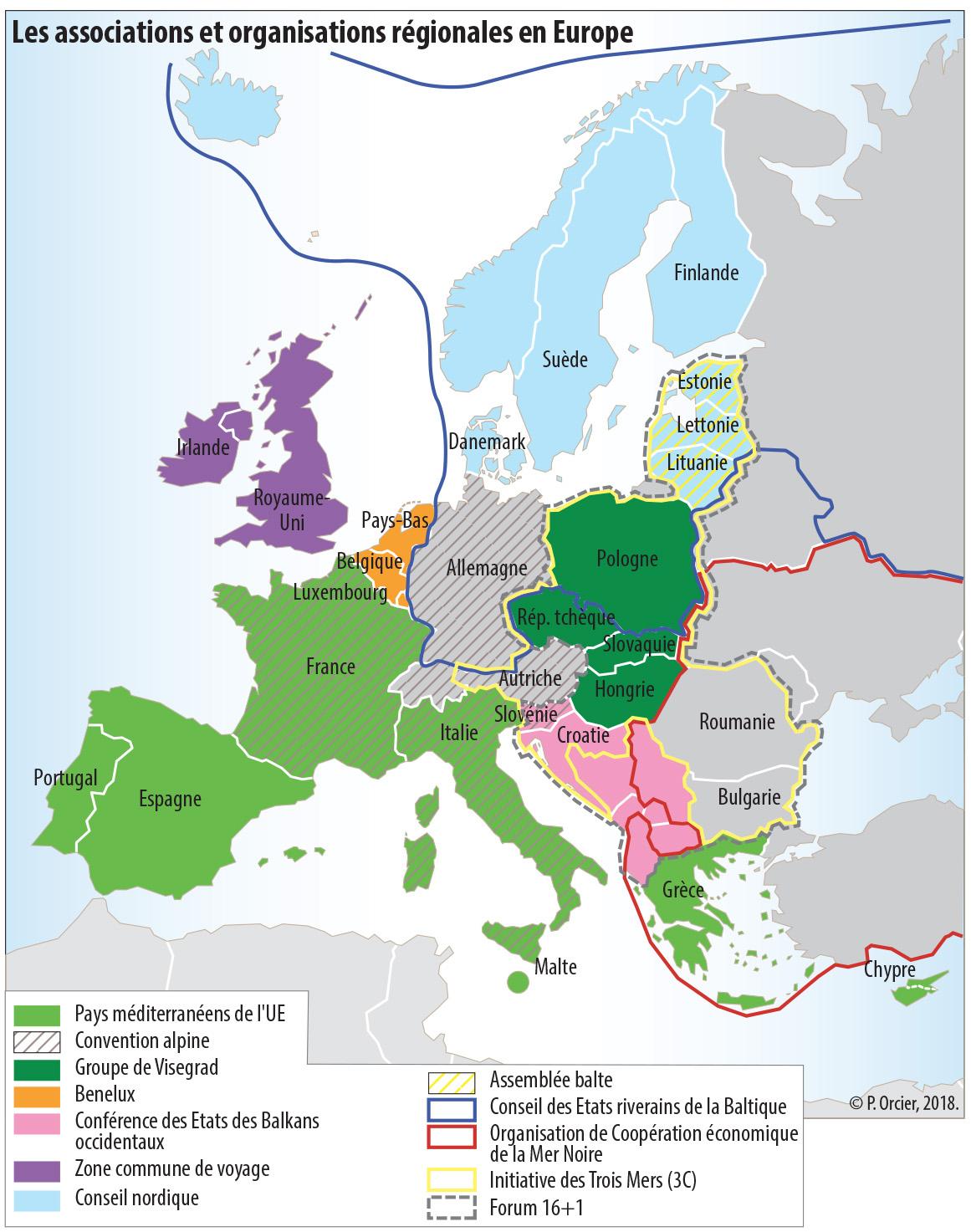 L'europe Entre Associations, Alliances Et Partenariats. L encequiconcerne Carte Construction Européenne