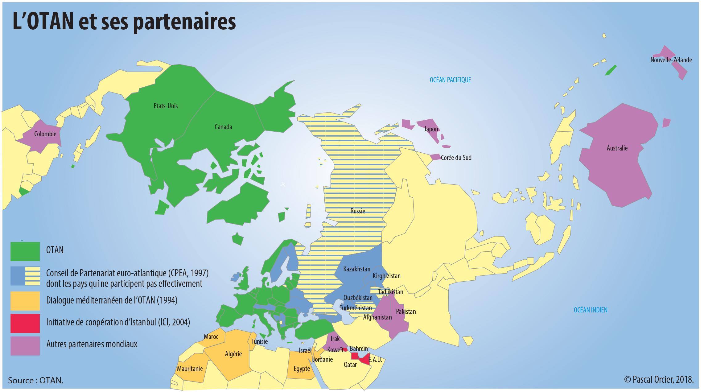 L'europe Entre Associations, Alliances Et Partenariats. L intérieur Carte Des Pays Membres De L Ue