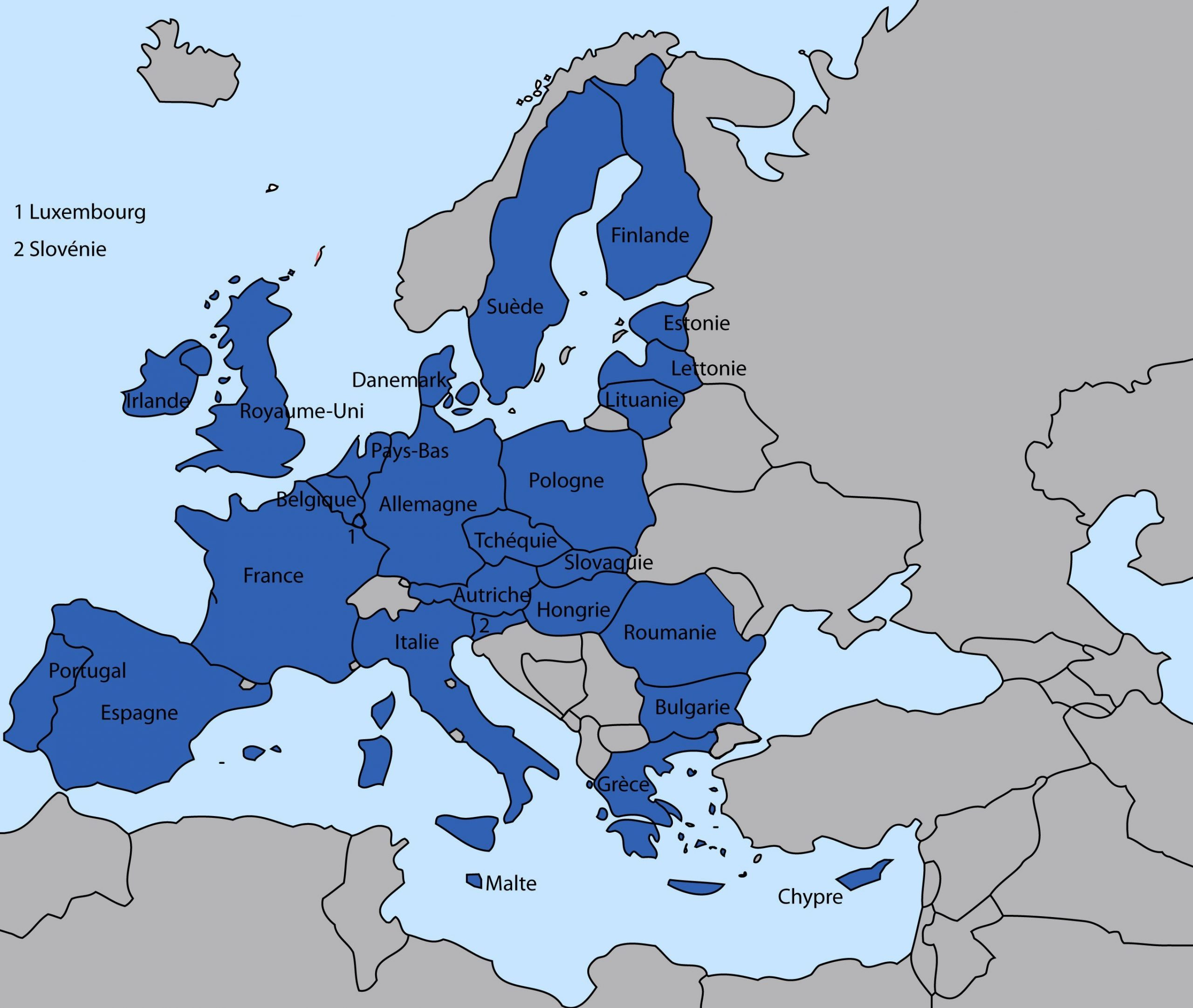 L'europe Expliquée Aux Enfants encequiconcerne Carte Des Pays De L Union Européenne