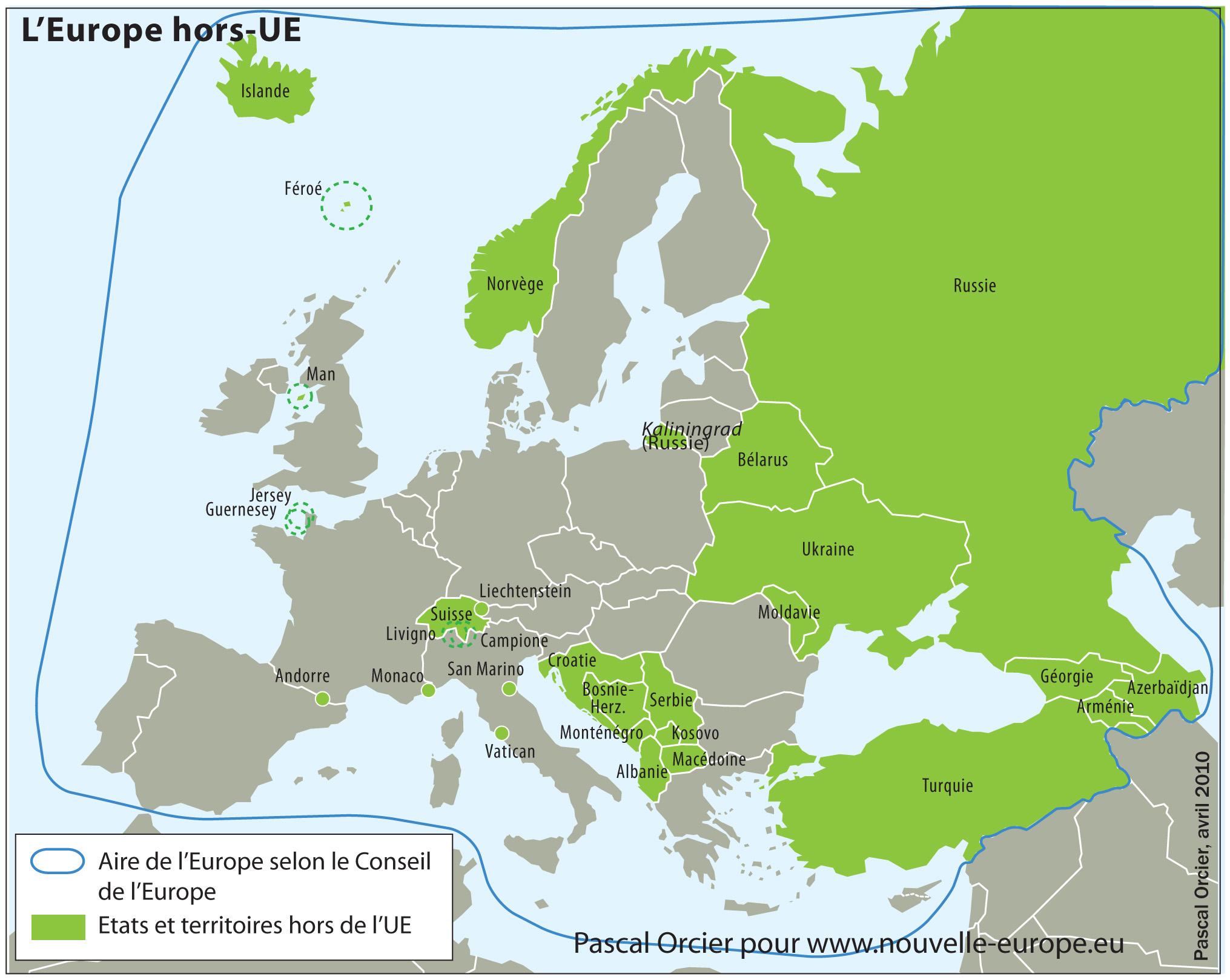 L'europe Hors-Ue   Nouvelle Europe encequiconcerne Carte Europe Pays Capitales