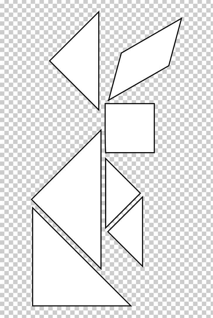 Library Of Tangram Black And White Stock Black And White Png avec Tangram Cycle 3