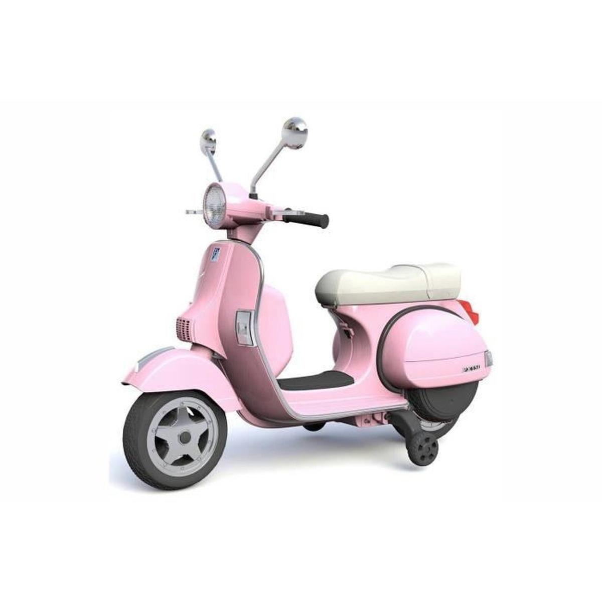Licence Piaggio Vespa Px 150 Scooter Enfants Rose Pour Fille avec Jeu De Voiture Pour Fille Gratuit