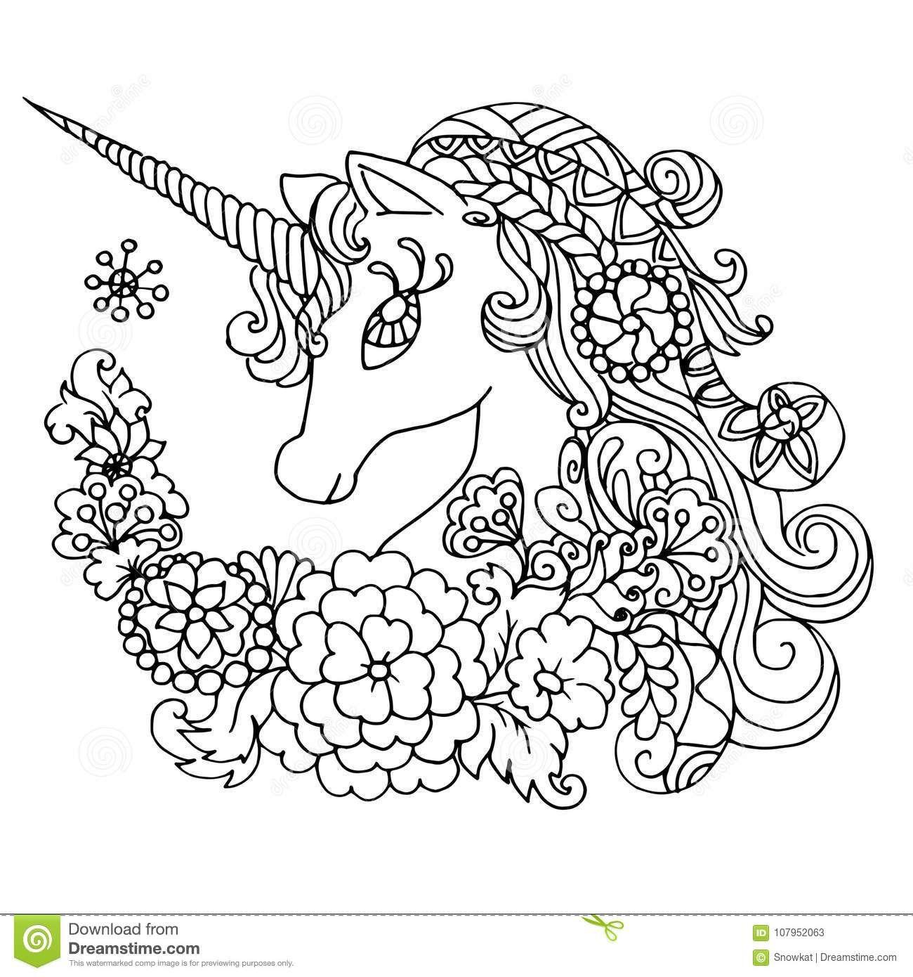 Licorne Blanche Fabuleuse De Livre De Coloriage avec Livre De Coloriage À Imprimer