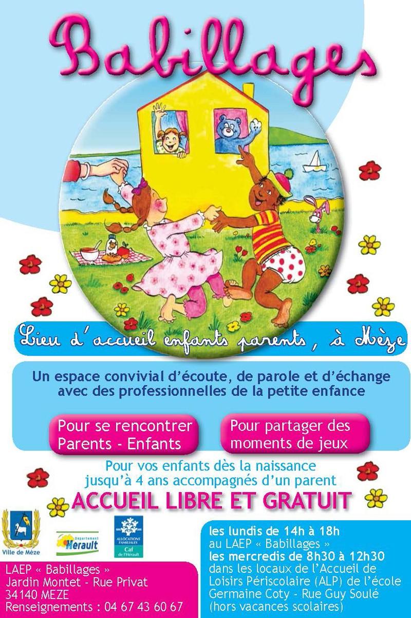Lieu D'accueil Parents / Enfants (Laep) Babillages - Ville destiné Jeux Enfant 4 Ans Gratuit