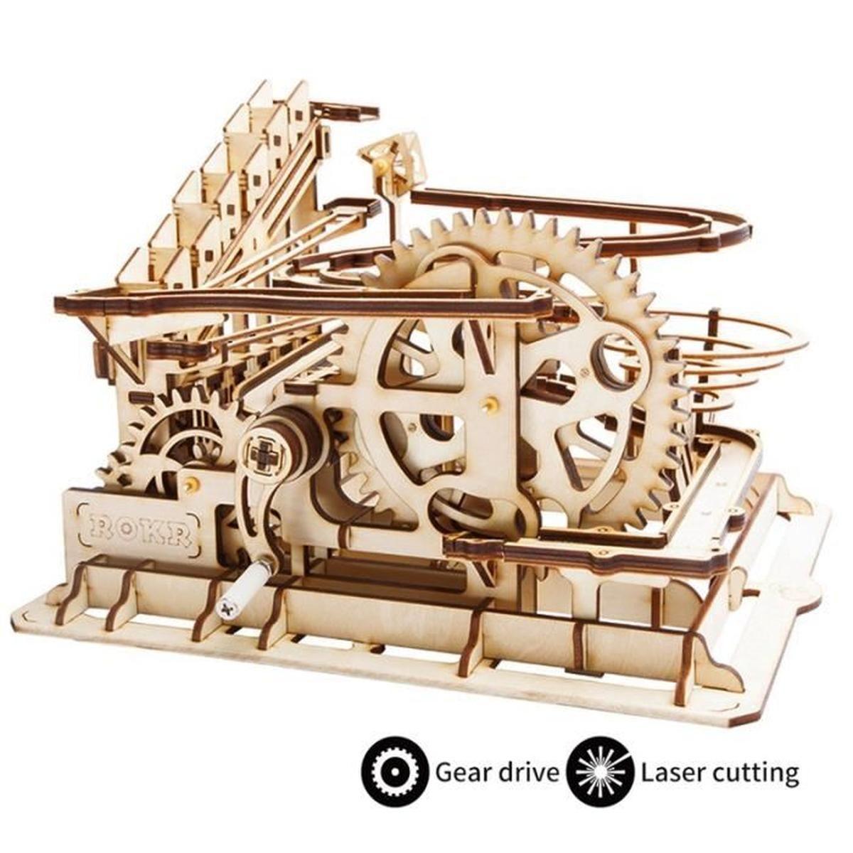 Lift Coaster Robotime Laser Cut Puzzle En Bois Jeu De Puzzle concernant Puzzle Gratuit Facile