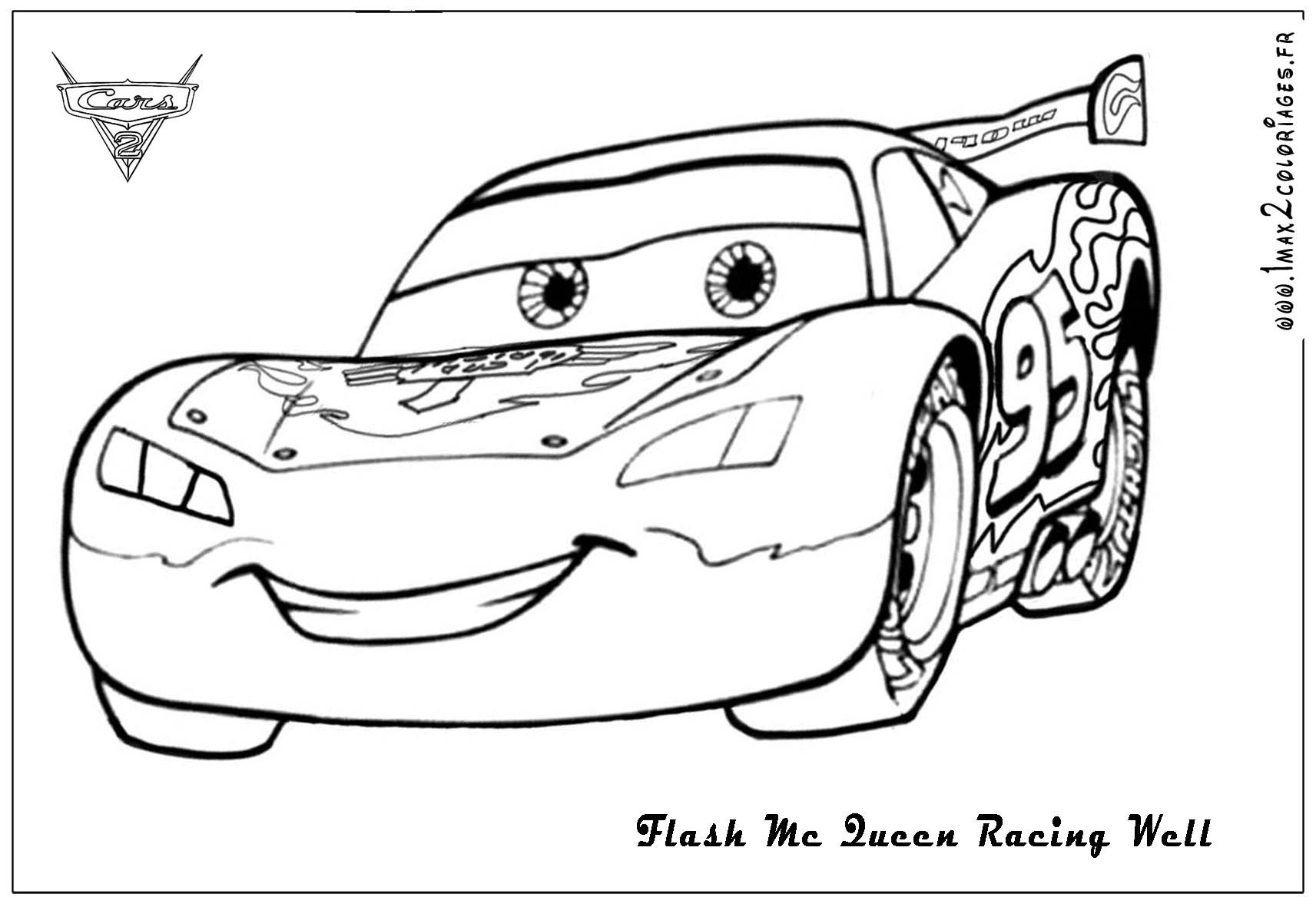 Lightning Mcqueen Coloring Pages - Free Large Images | Cars dedans Coloriage De Flash Mcqueen