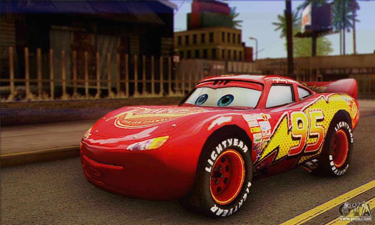 Lightning Mcqueen For Gta San Andreas pour Flash Mcqueen Martin