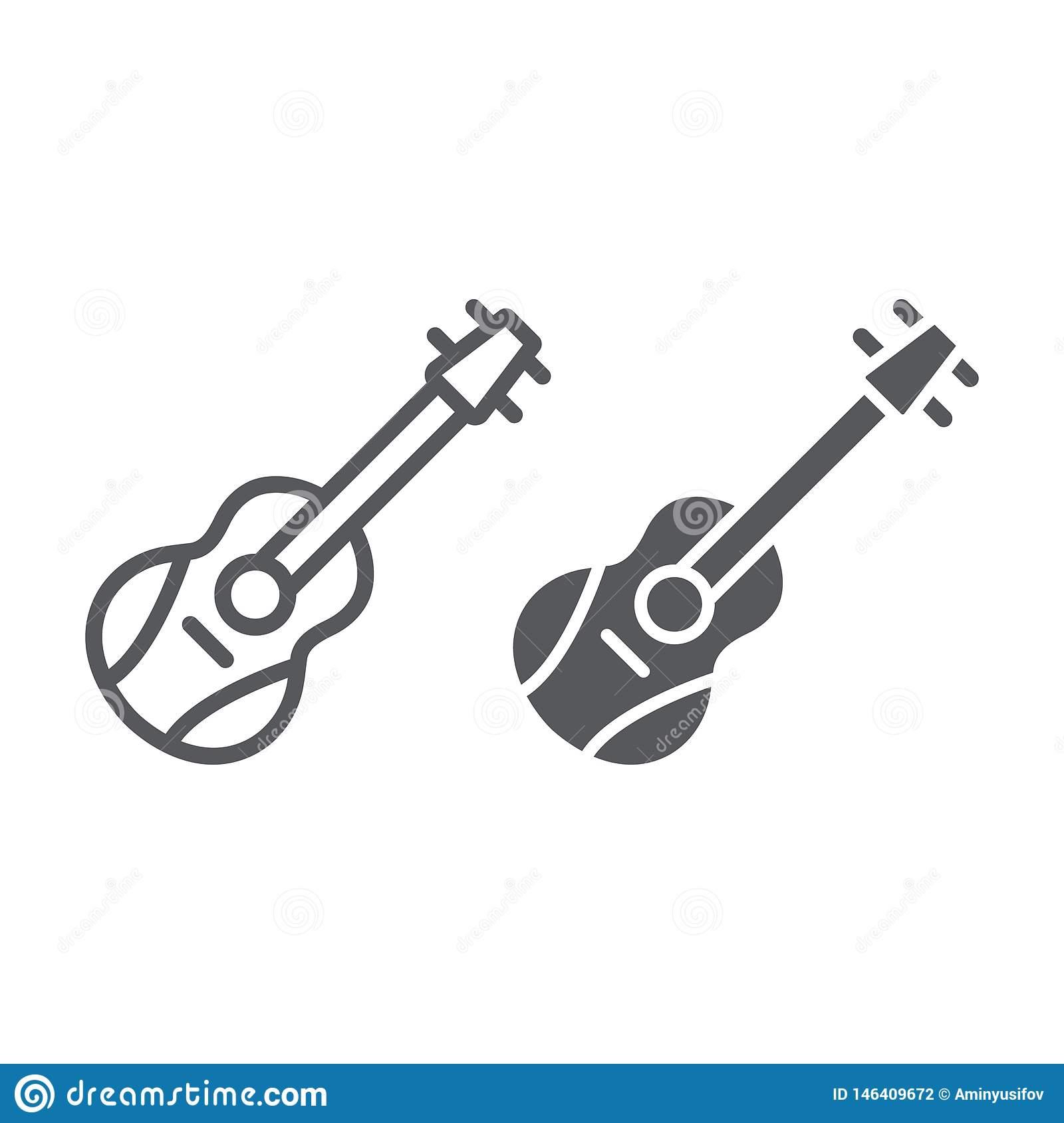 Ligne De Guitare Et Icône De Glyph, Mélodie Et Jeu, Signe D concernant Jeux De Musique En Ligne