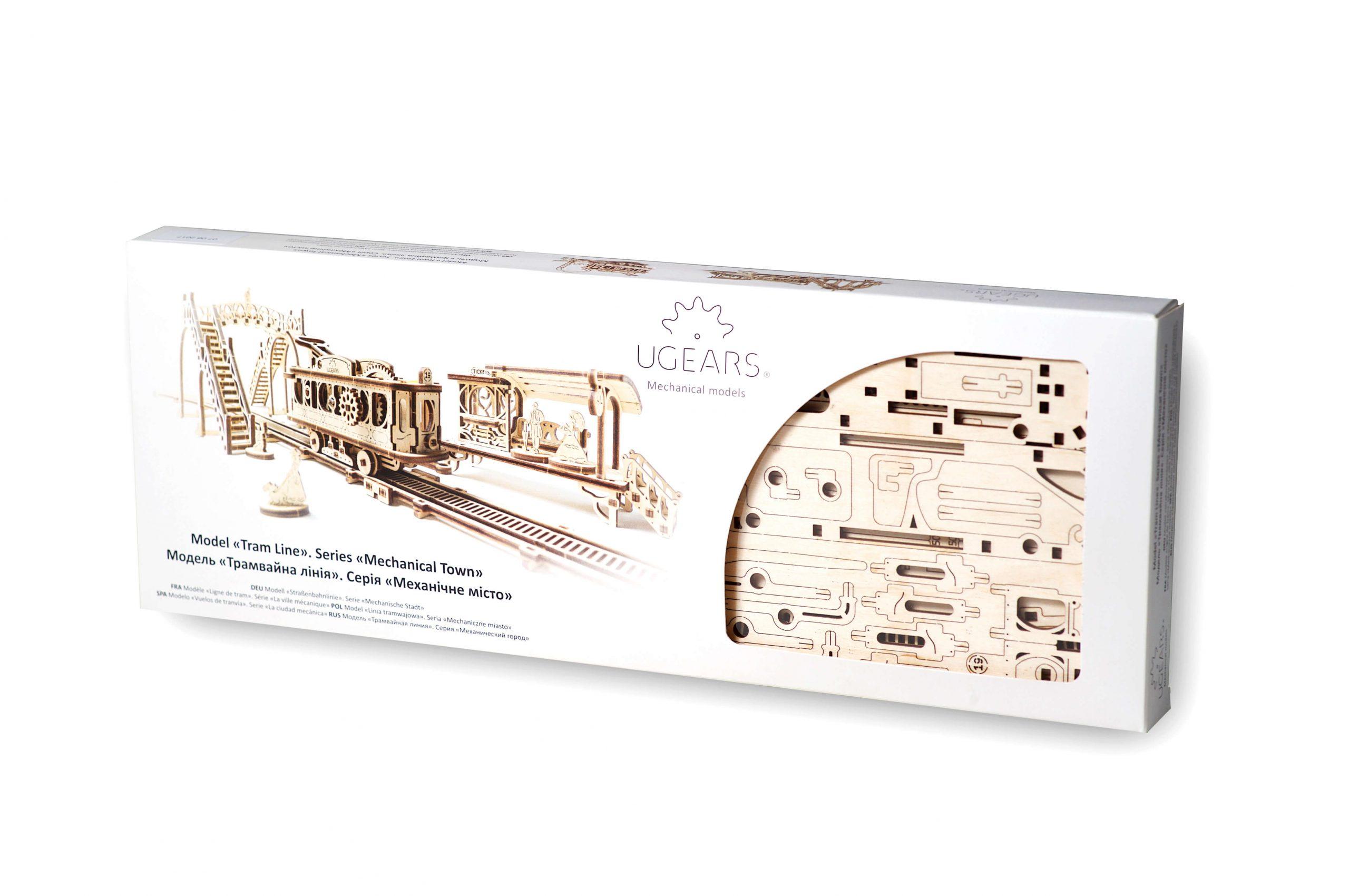 Ligne De Tram - Puzzle 3D Mécanique En Bois - Ugears France à Puzzle 5 Ans En Ligne