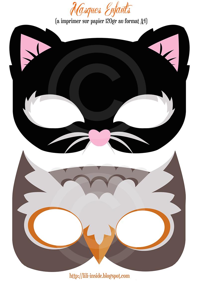 Lili♡Inside: Décoration Halloween 2013 X Un Kit Et Des à Masque À Imprimer Animaux