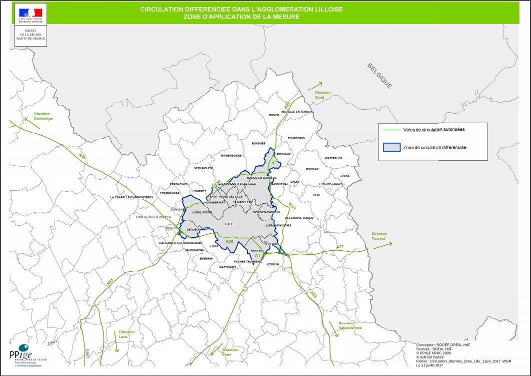 Lille - Acil Durum Şeması concernant Region De France 2017