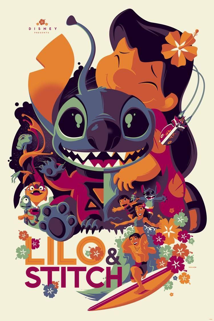 Lilo & Stitch En 2020 | Affiches De Disney, Art Disney Et à Lilo Et Stitch Dessin Animé