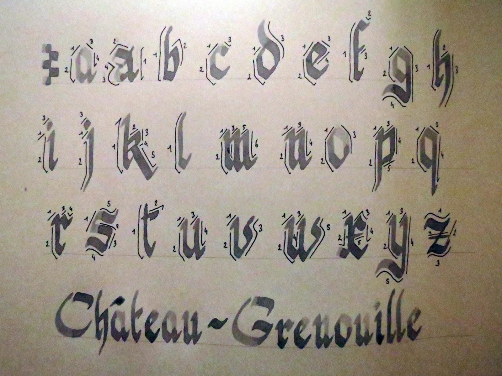 Lilyvale: Calligraphie Médiévale - Modèle D'écriture pour Modèle D Alphabet