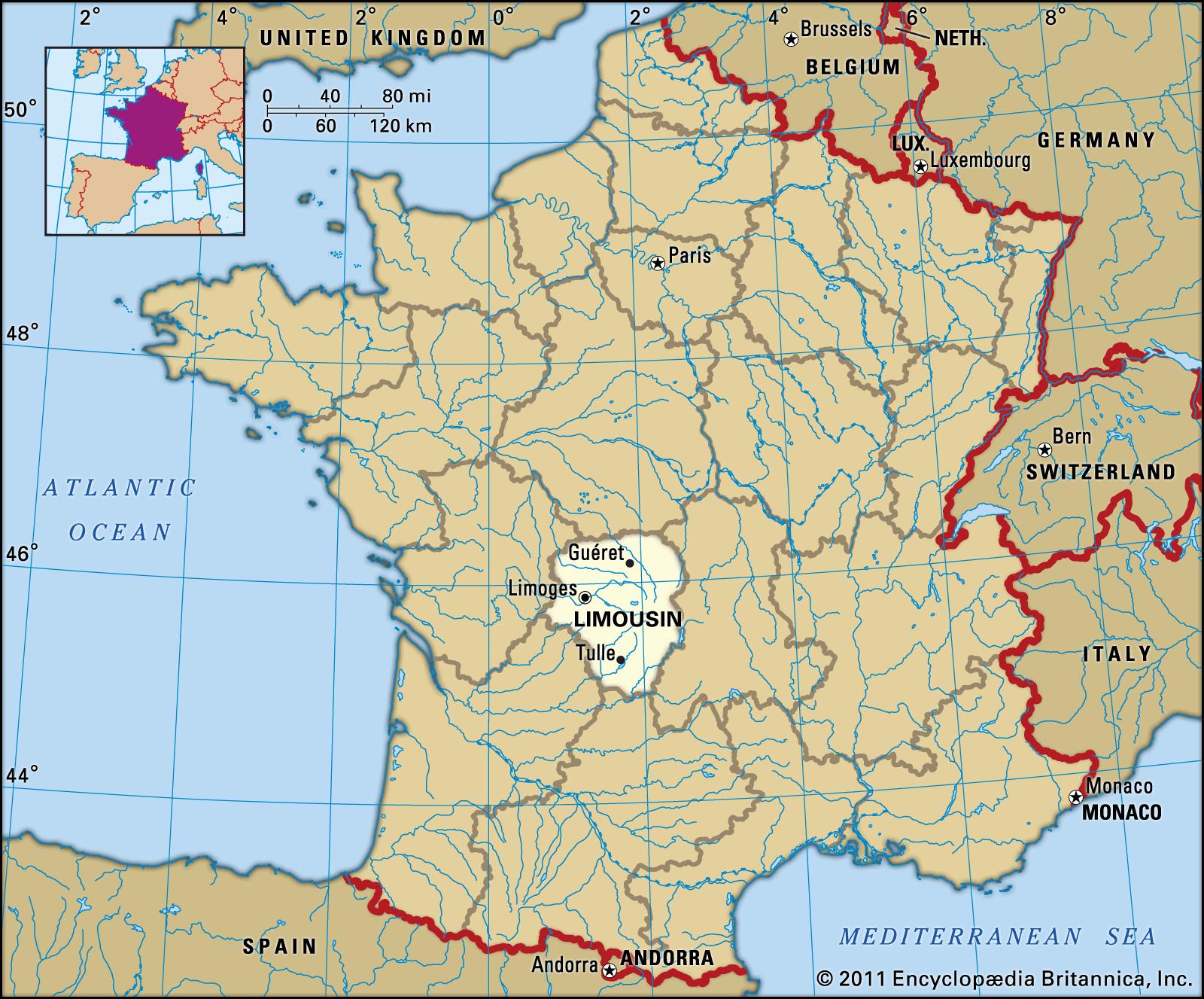 Limousin | History, Culture, Geography, & Map | Britannica à Liste Region De France
