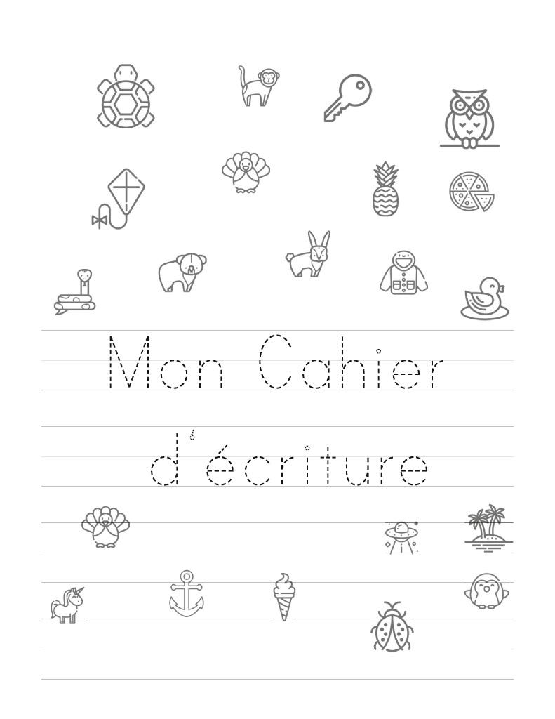 Lire Un Extrait Avec Bod : Mon Cahier De Écriture destiné Apprendre A Ecrire L Alphabet