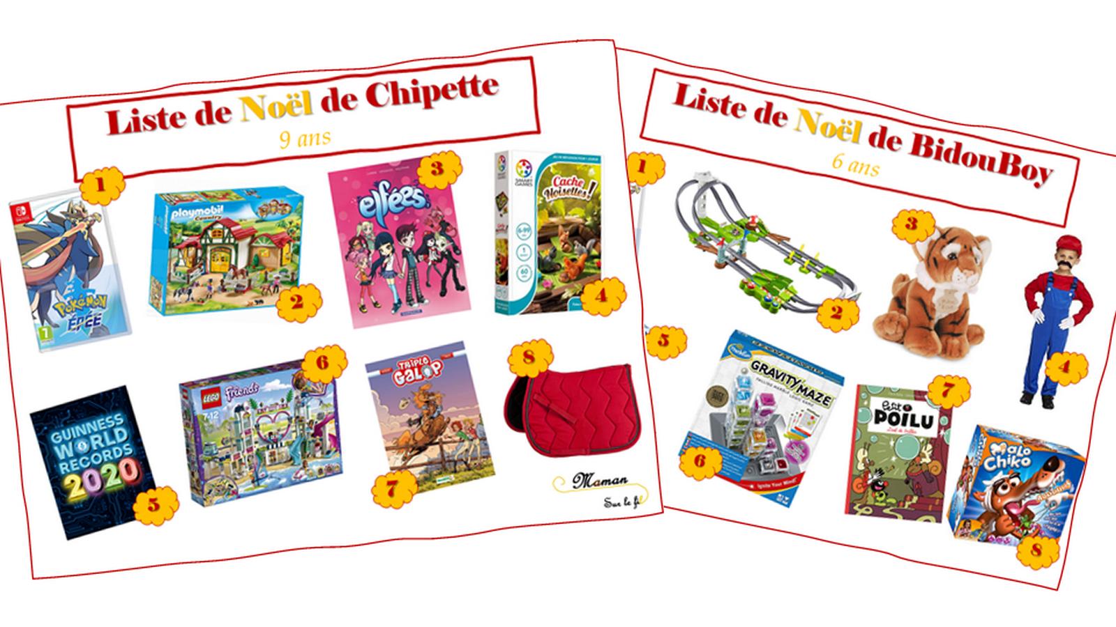 Liste De Noël De Mes Monstres De 6 Et 9 Ans - Maman Sur Le Fil à Jeux De Fille 9 Ans