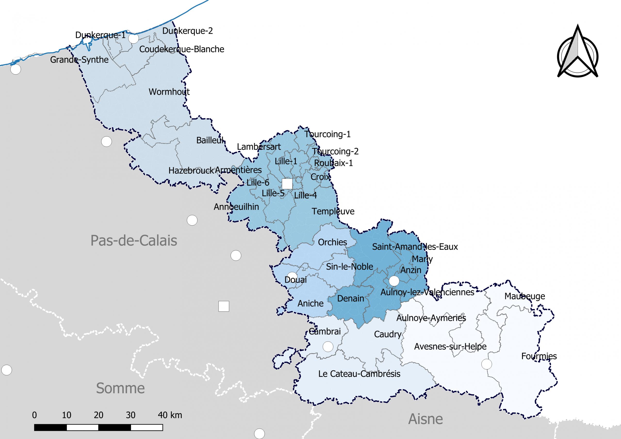 Liste Des Cantons Du Nord — Wikipédia à Tableau Des Départements Français