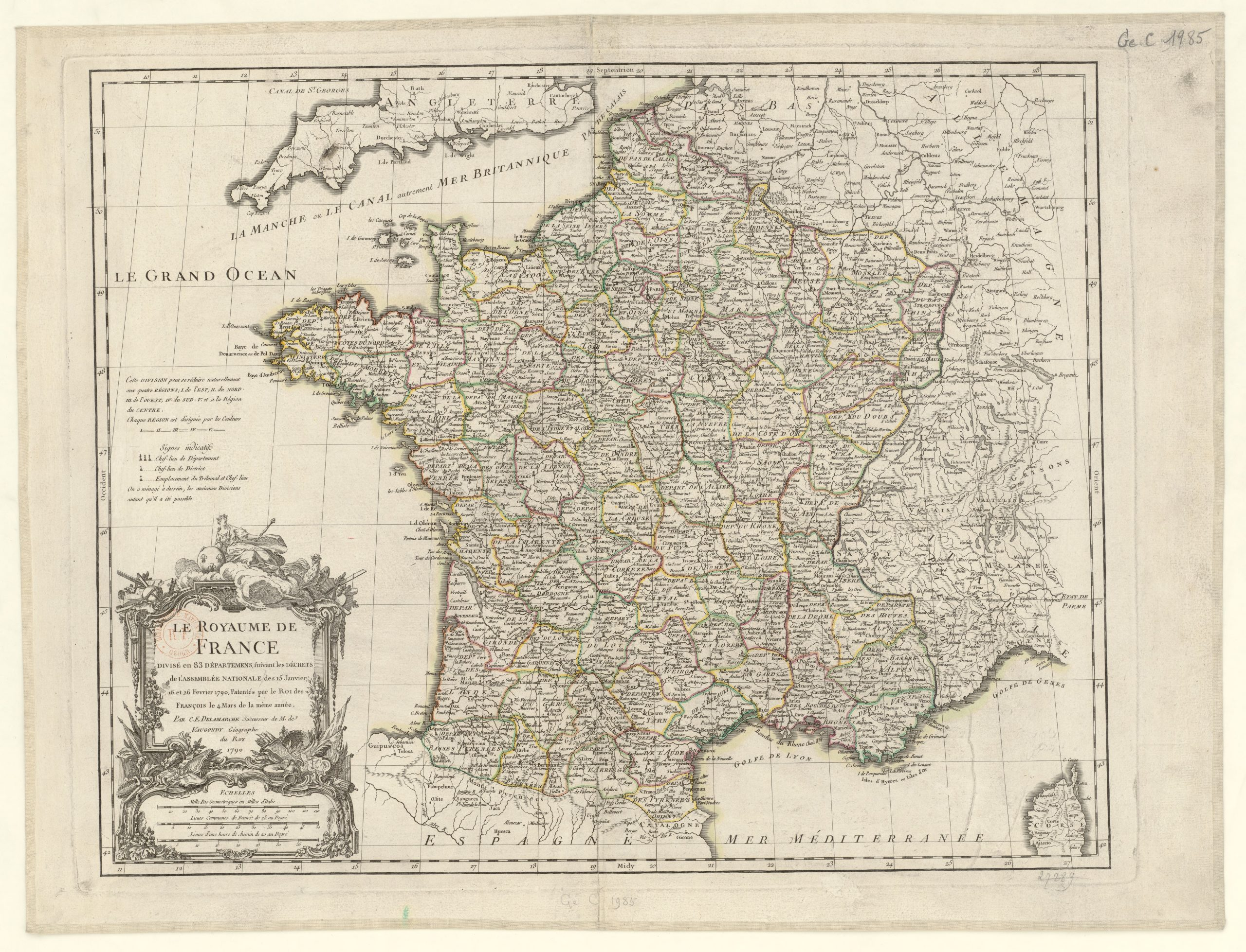 Liste Des Départements Français De 1790 — Wikipédia destiné Combien De Departement En France