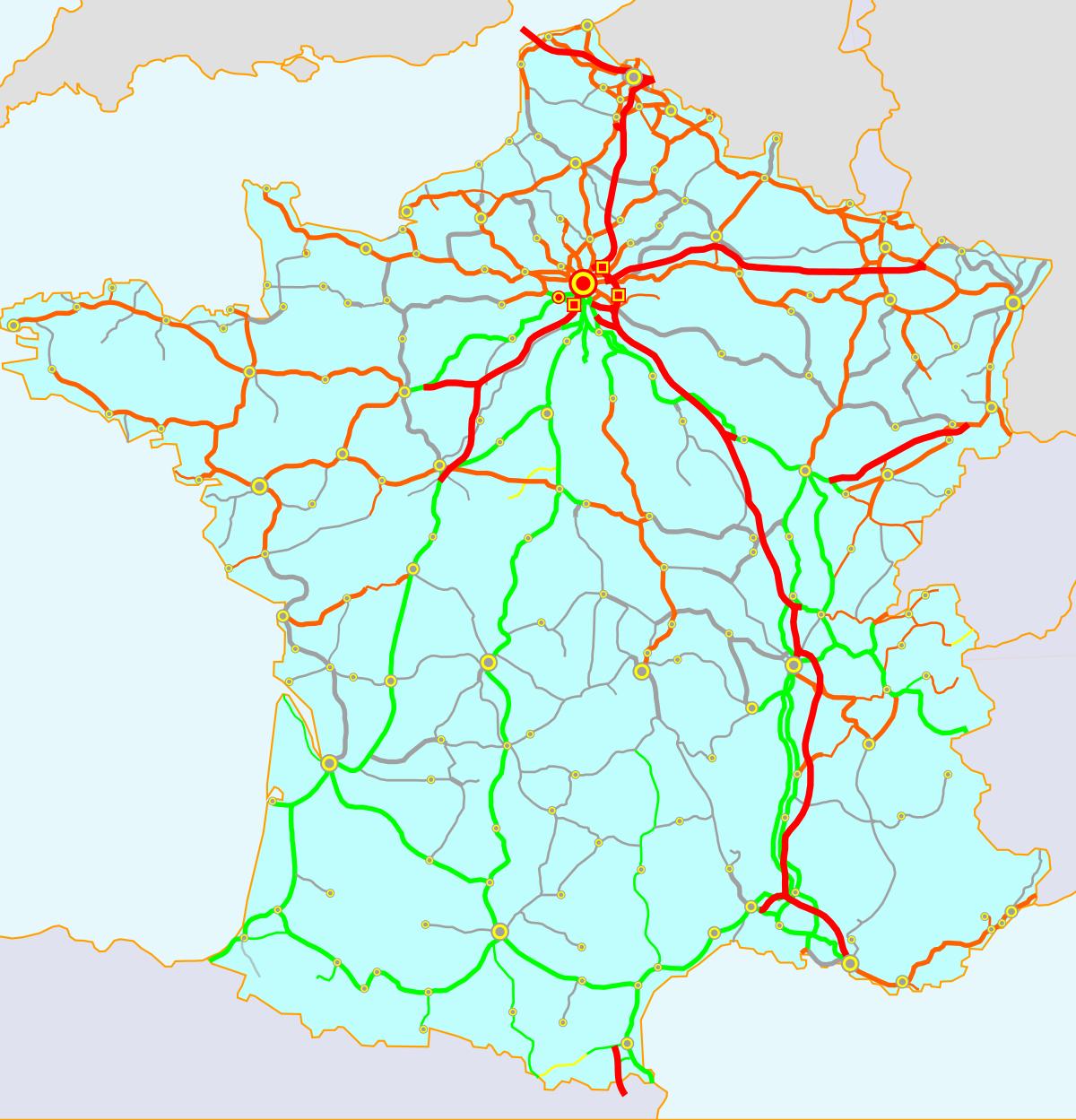 Liste Des Lignes De Chemin De Fer De France — Wikipédia concernant Decoupage Region France