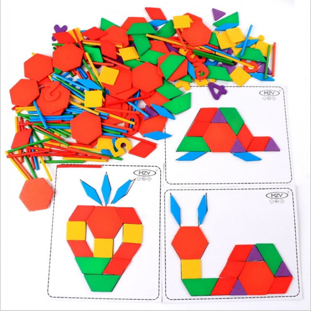Little B House] Wooden Multifunctional Creative Puzzle avec Tangram Chat