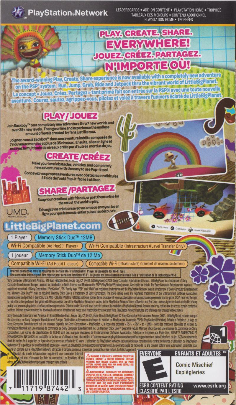Littlebigplanet (2009) Psp Box Cover Art - Mobygames destiné Jeu Memory En Ligne