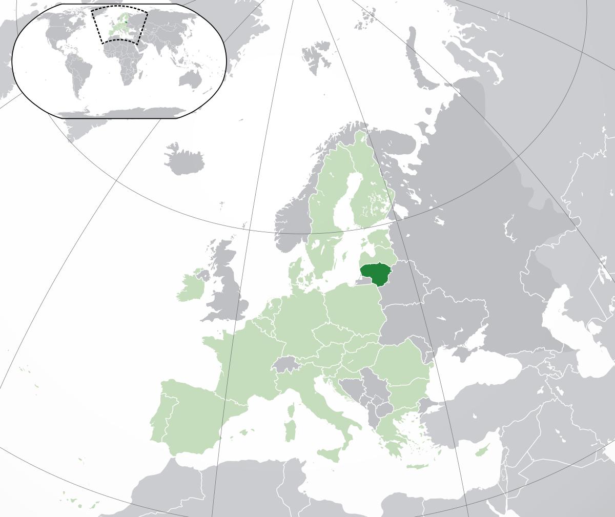 Lituanie — Wikipédia concernant Pays Et Capitales D Europe
