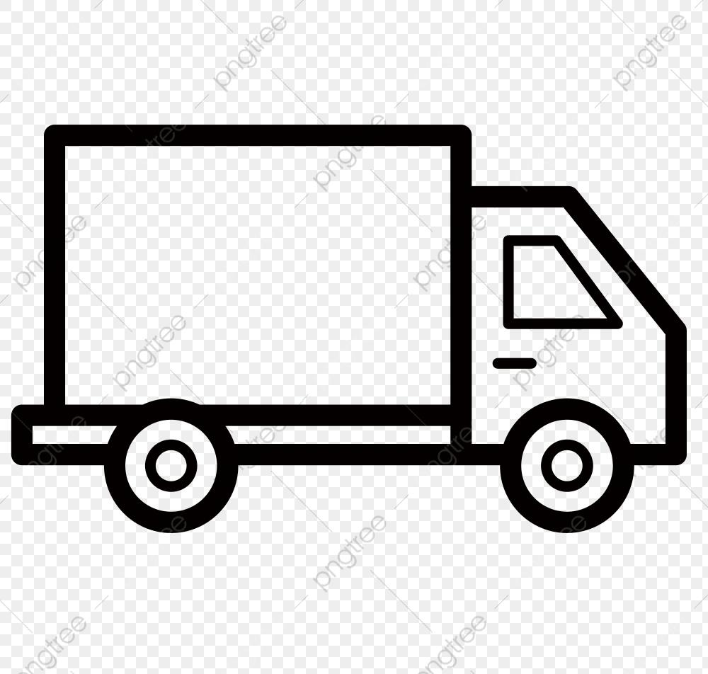 Livraison Camion Dessin Au Trait Noir Camion, Au, Livraison destiné Dessin D Un Camion