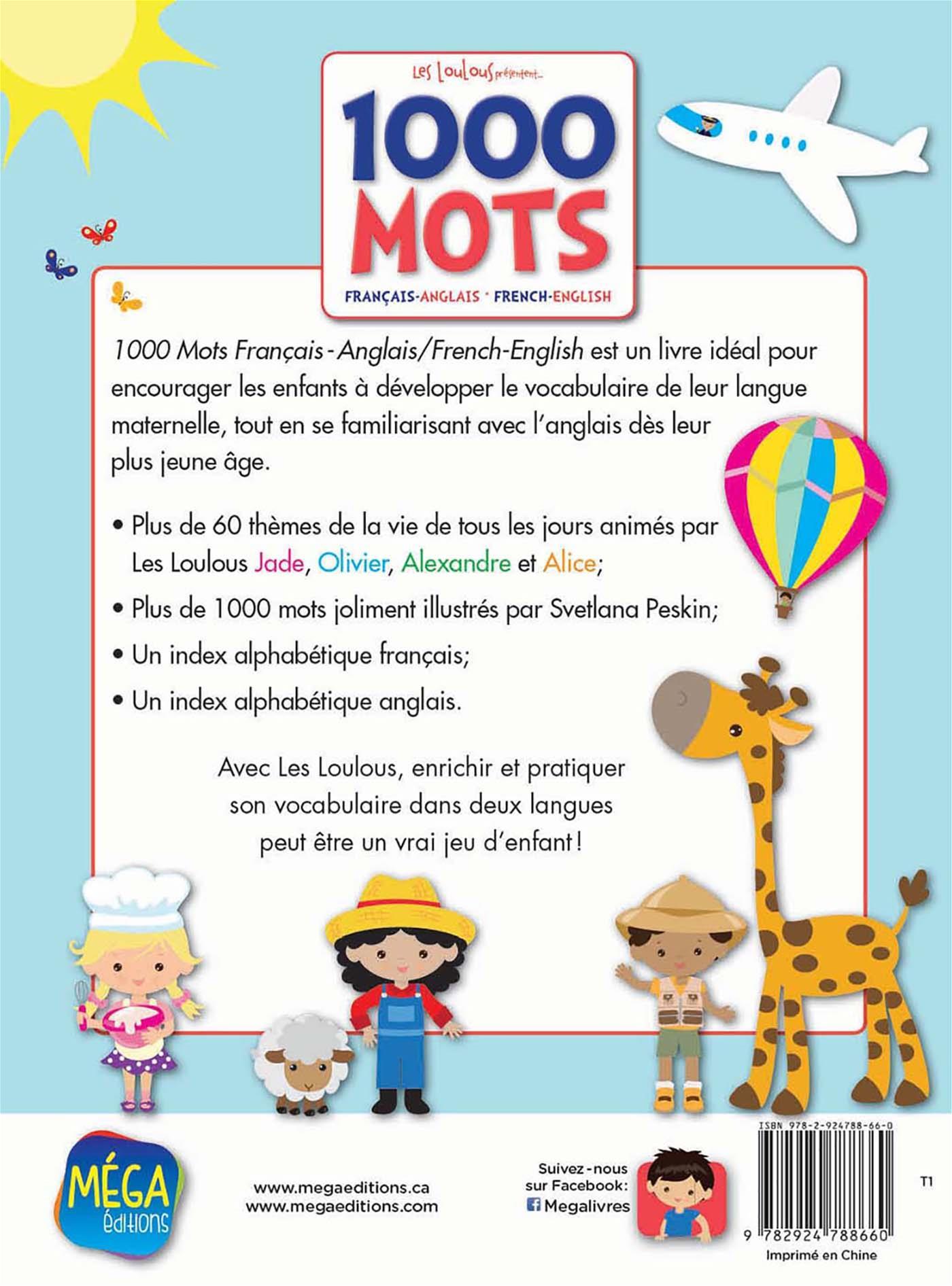 Livre 1000 Mots - Français-Anglais • French-English dedans Jeu De Mot En Anglais