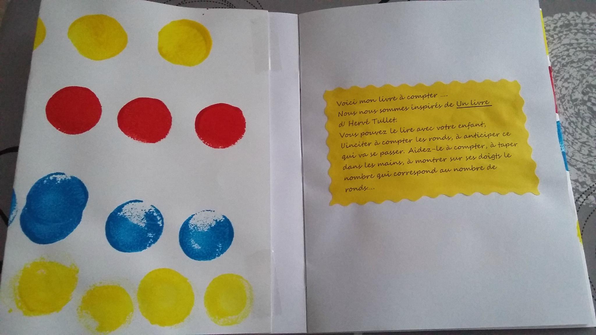 Livre À Compter Un Livre Tullet - La Classe Des Petits intérieur Livre Graphisme Maternelle