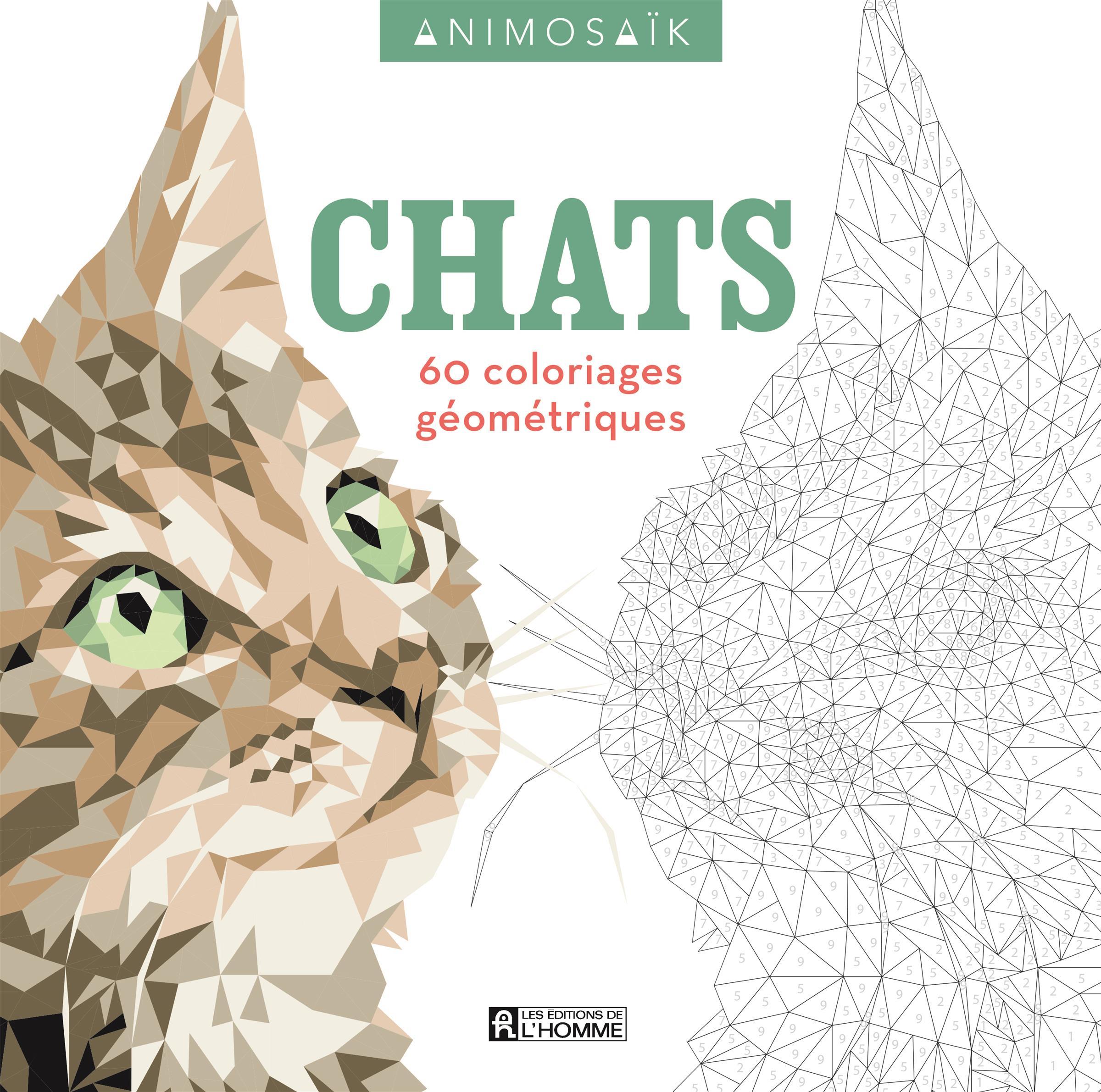 Livre Animosaïk - Chats - 60 Coloriages Géométriques | Les pour Livre De Coloriage À Imprimer