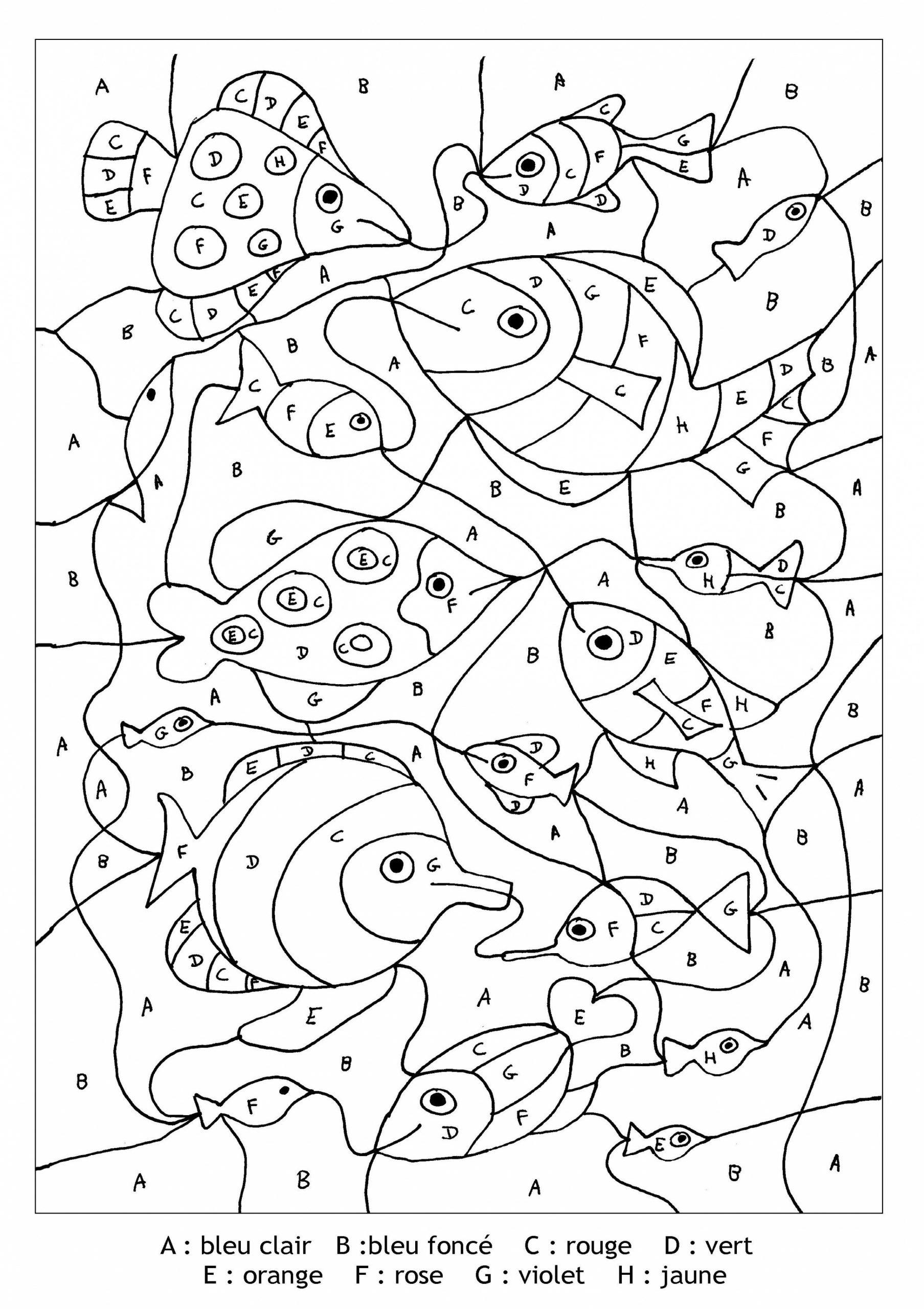 Livre Coloriage Magique avec Coloriages Codés Gs