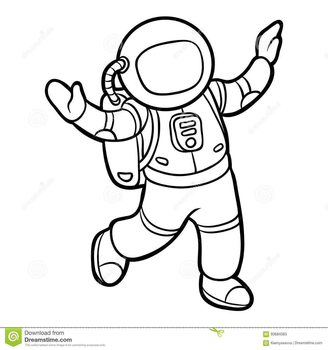 Livre De Coloriage, Astronaute Illustration De Vecteur à Coloriage Astronaute