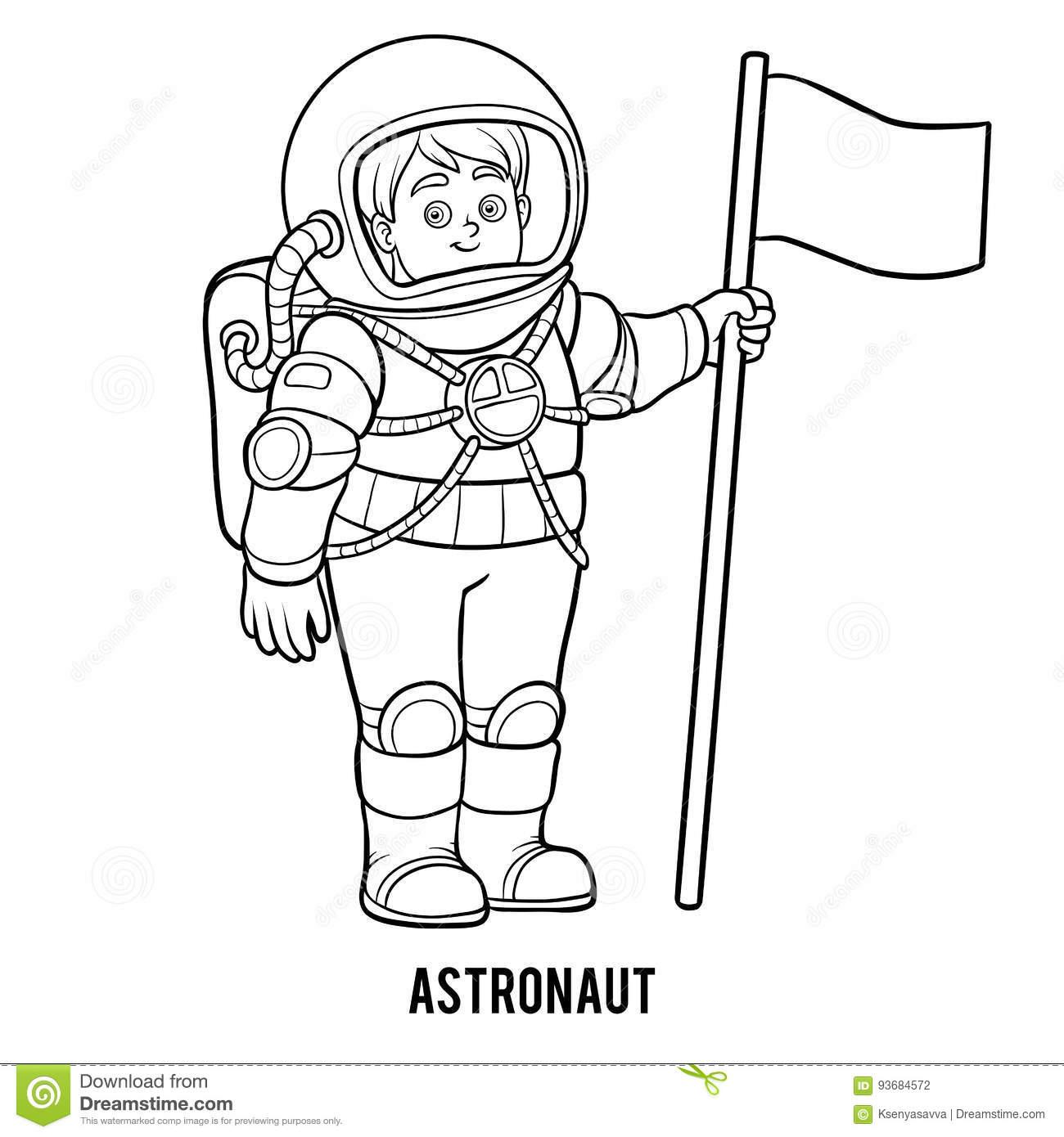 Livre De Coloriage, Astronaute Illustration De Vecteur concernant Coloriage Astronaute