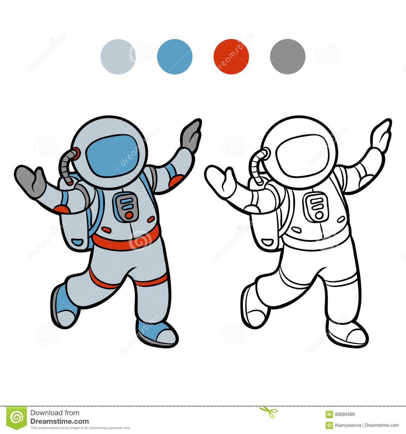 Livre De Coloriage, Astronaute Illustration De Vecteur intérieur Coloriage Astronaute