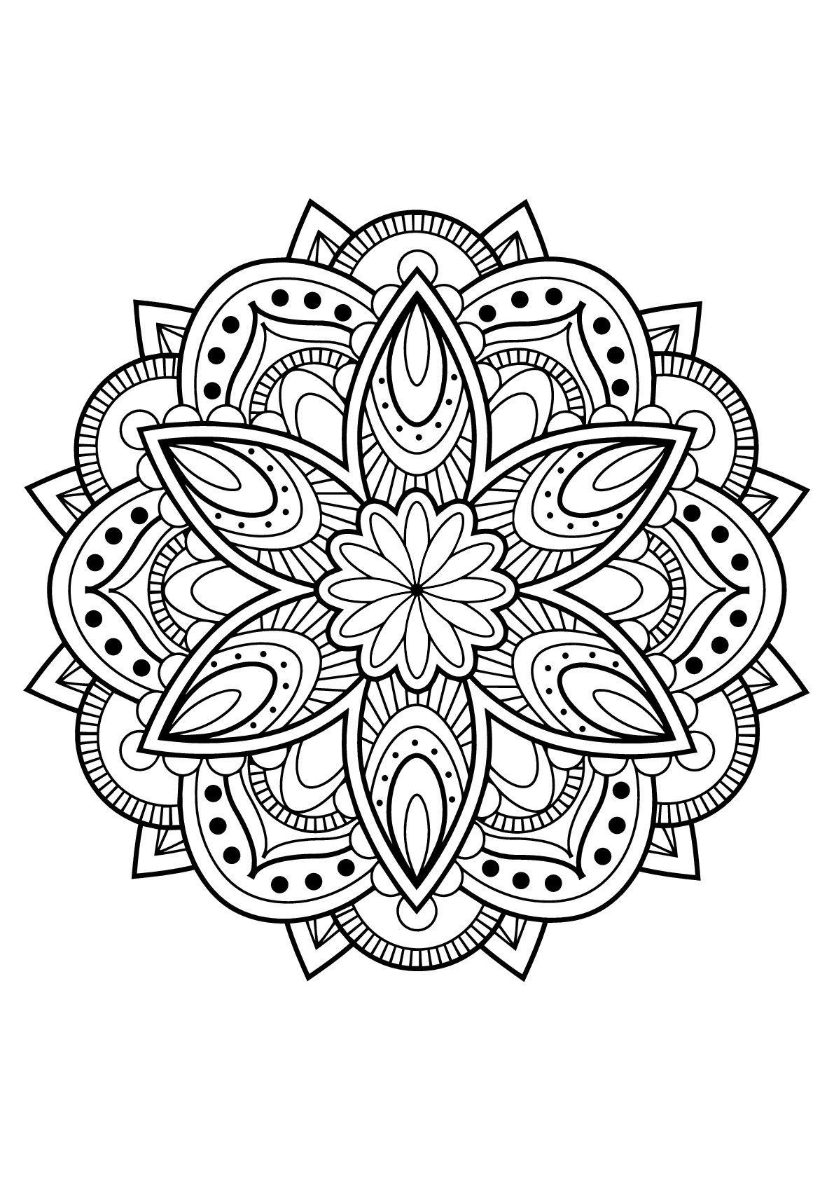Livre De Coloriage Mandala Awesome Mandala Livre Gratuit 16 intérieur Coloriage De Mandala Difficile A Imprimer
