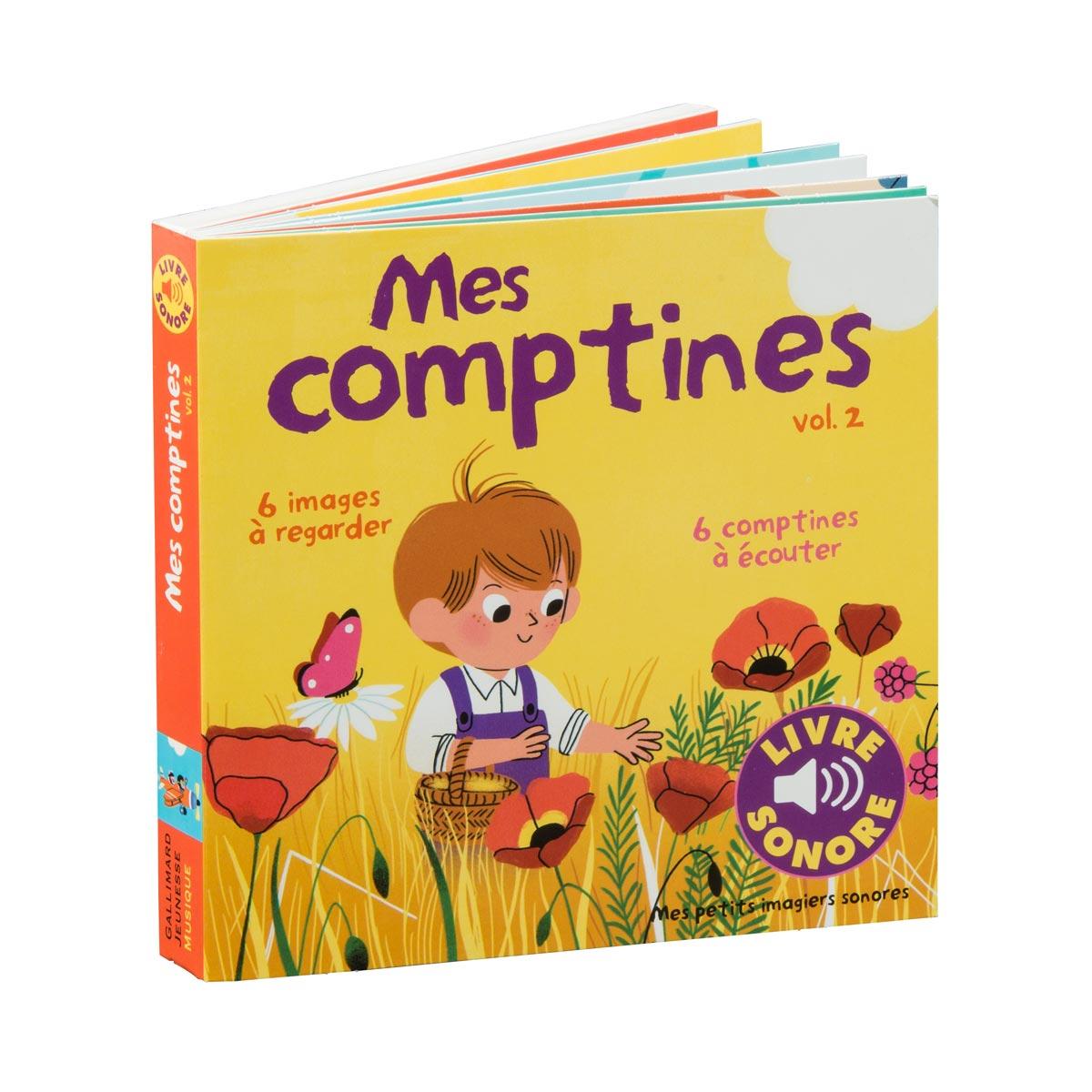 Livre Mes Comptines T2 Imagier Sonore avec Jeux Pour Petit De 3 Ans