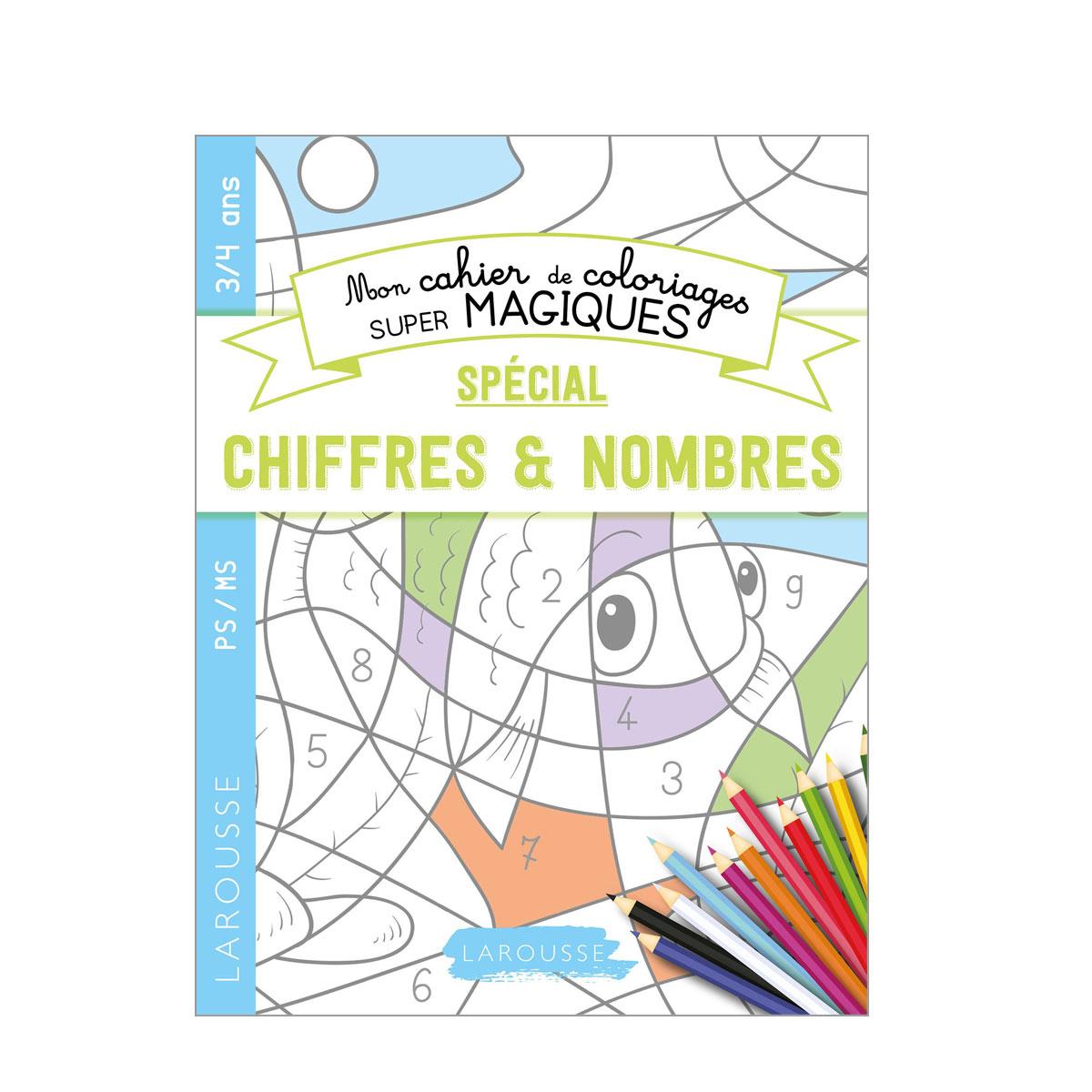 Livre Mon Cahier De Coloriages Super Magiques Chiffres Et Nombres avec Coloriage Magique 4 Ans