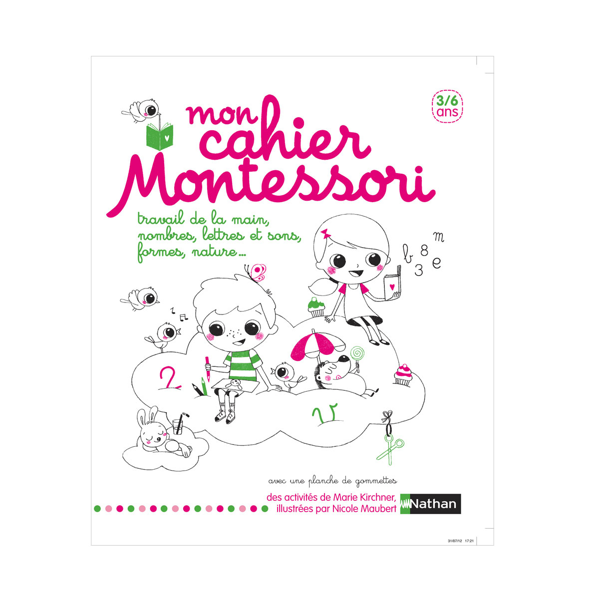 Livre Mon Cahier Montessori 3 - 6 Ans concernant Activité Montessori 3 Ans