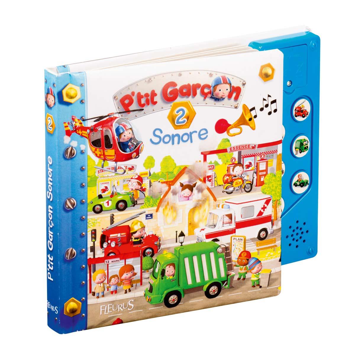 Livre Sonore P'tit Garçon 2 Pour Enfant De 2 Ans À 4 Ans avec Jeux Des Petit Garçon